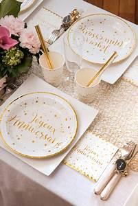 Serviette De Table Blanche : serviette cocktail anniversaire blanche et or x20 ref 5663 ~ Teatrodelosmanantiales.com Idées de Décoration
