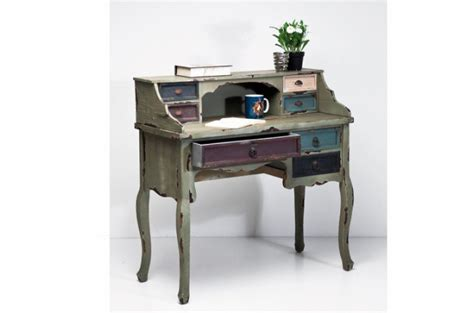 bureau secretaire pas cher secrétaire industrie en bois coloré bureau pas cher