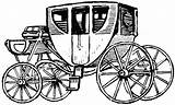 Clipart Stagecoach Coach Stage Carriage Drawing Horse Drawn Clip Horses Cart Etc Cliparts Clipground Usf Edu Carried Wheeled Passenger Four sketch template