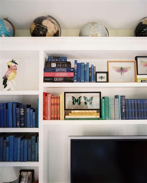 Color Coordinated Bookshelves  Csi Miami Star Emily