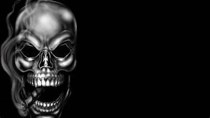 Skull Smoking Smoke Calaveras Wallpapers Dangerous Skeleton