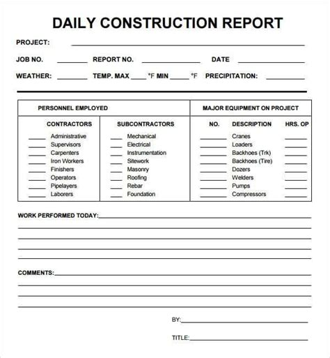 daily report 10 daily report templates word excel pdf formats