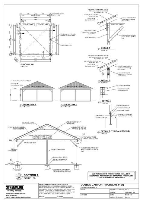 Carport Plan by Free Carport Plans Building F Appetizers In