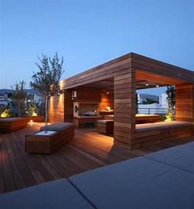 Terrasse Gestalten Modern : moderne terrassengestaltung 100 bilder und kreative einf lle terrasse gestalten pergola ~ Watch28wear.com Haus und Dekorationen