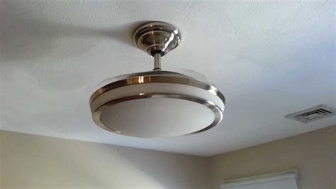 ceiling fan  retractable blades youtube