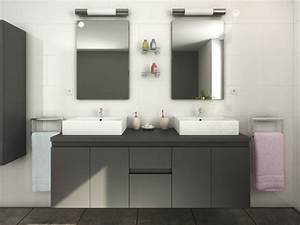 Meuble Double Vasque Suspendu : meubles de salle de bain lavita ii suspendus avec double vasque et miroirs plusieurs coloris ~ Melissatoandfro.com Idées de Décoration