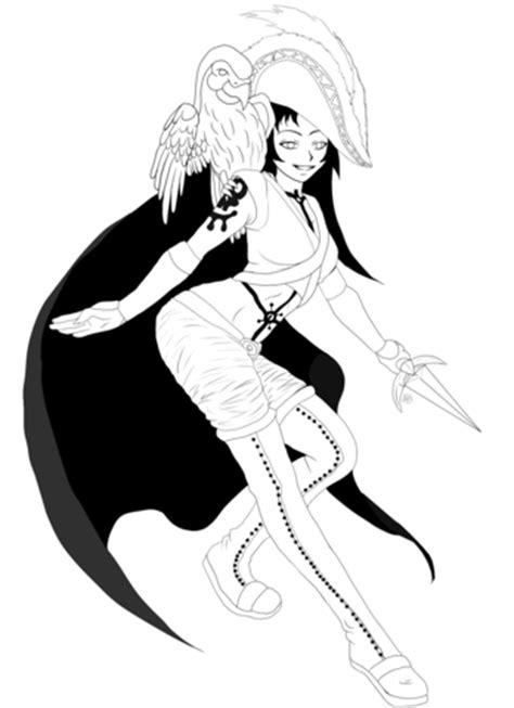Gaia Anime Girl Character coloring page Free Printable