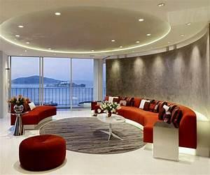 Modern, Interior, Decoration, Living, Rooms, Ceiling, Designs, Ideas