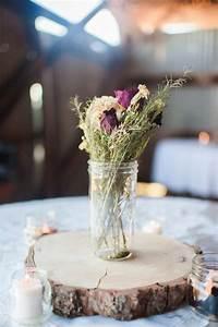 Wood Cookie Centerpieces Rustic Wedding Decor POPSUGAR