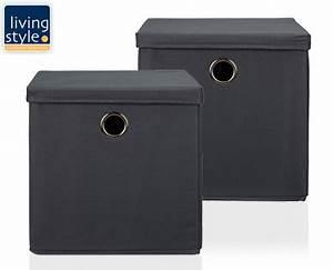 Schöne Aufbewahrungsboxen Mit Deckel : aldi s d living style aufbewahrungsboxen mit deckel 2er set ~ Bigdaddyawards.com Haus und Dekorationen