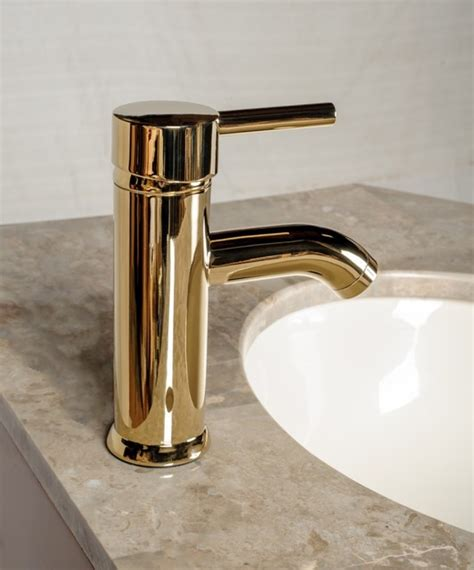 Modern Gold Bathroom Faucets by Faucets Brass Pvd Single Lever Modern Bathroom