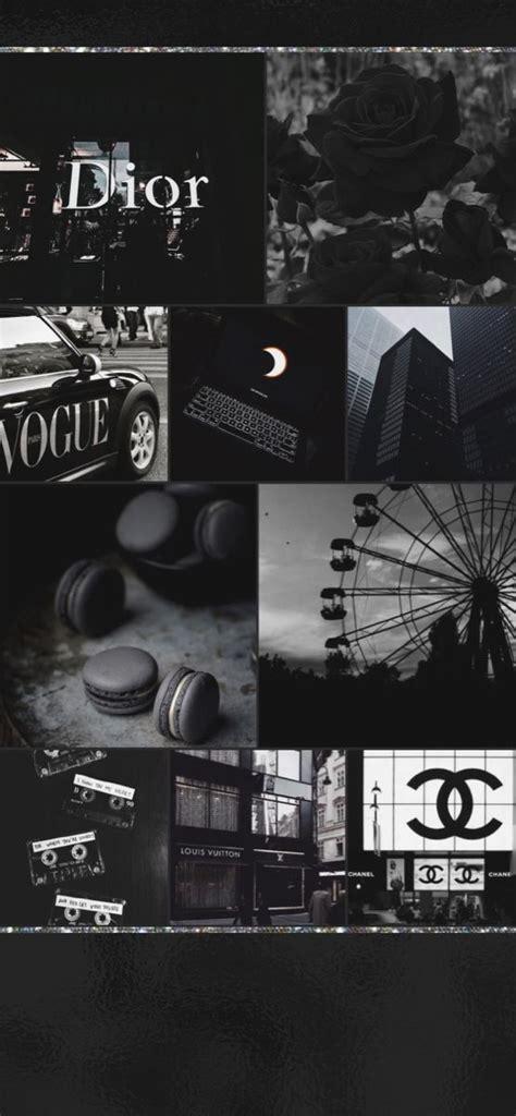 black collage wallpaper in 2020 black aesthetic