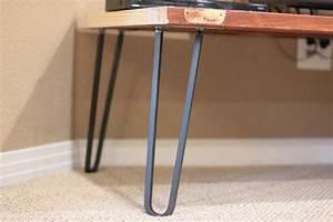 Hairpin Legs Baumarkt : square bar hairpin legs raw steel ~ Michelbontemps.com Haus und Dekorationen