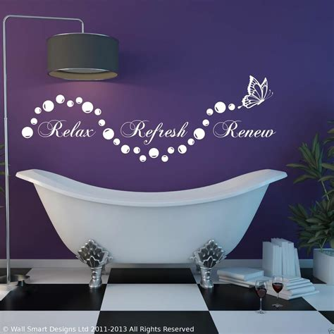 Bathroom Relaxation Quotes by Relax Bathroom Bubbles En Suite Wall Sticker Quote