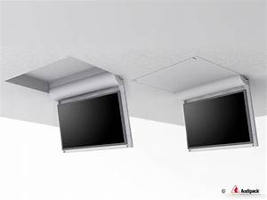 Electric Motorized Flip Down Pitched Roof Ceiling Tv Mount