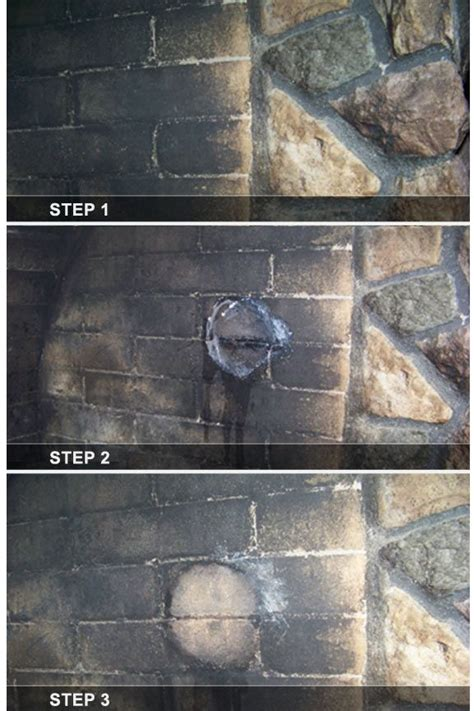 cleaning fireplace soot  brick  stone  ojays