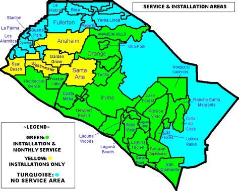 orange county ca map
