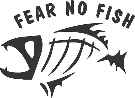 Bass Fish Skeleton Vector