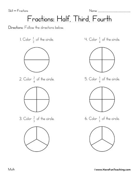 Fractions Quarters Worksheets  Fractions Worksheets And Worksheetspizza Fraction 1000 Images