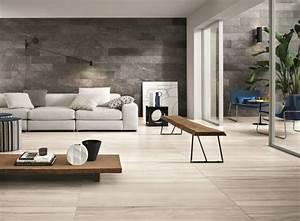Graue Wand Wohnzimmer : graue fliesen f r wand und boden 55 moderne wohnideen ~ Indierocktalk.com Haus und Dekorationen
