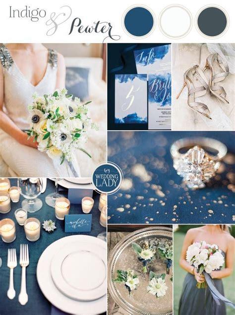 indigo  pewter  timeless wedding palette indigo