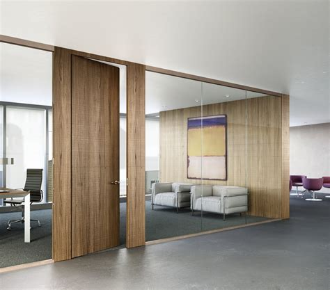 wooden office design incredible wood finishes in a prefab swing door module easy to install it integrates with