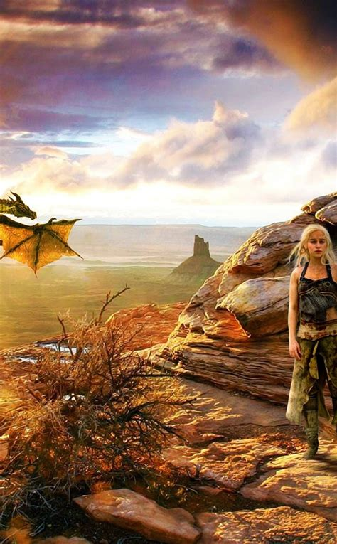 khaleesi dragon game thrones full hd wallpaper