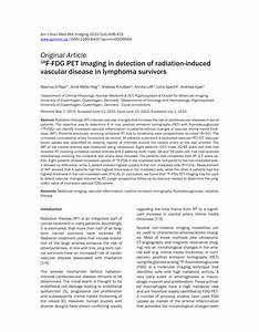 (PDF) 18F-FDG PET imaging in detection of radiation ...