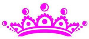 Tiaras And Crowns Clip...Pink Princess Crowns Logo