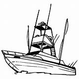 Boat Coloring Fishing Pages Speed Row Boats Drawing Clip Sport Yacht Console Recreational Template Center Sketch Drawn Tugboat Getcolorings Clipart sketch template