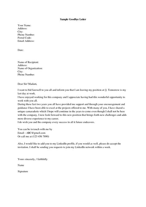 Cover Letter Colleagues by Sad Goodbye Letter Goodbye Letter Quotes And Related