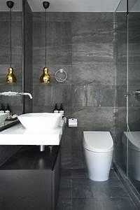 30, Dark, Grey, Bathroom, Tiles, Ideas, And, Pictures