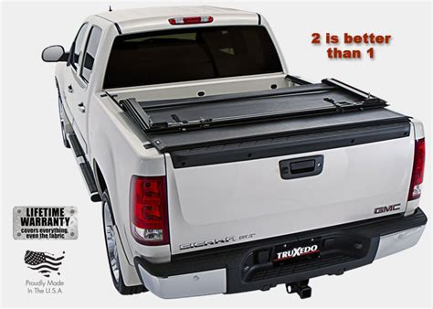 Roll Up Bed Cover by Truxedo Deuce Hinged Roll Up Truck Bed Tonneau Cover
