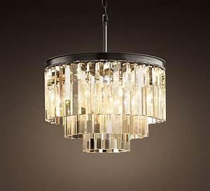Art deco style glass chandelier decoist