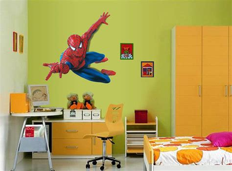 New 3d View Spiderman Super Hero Wall Sticker Boys Bedroom