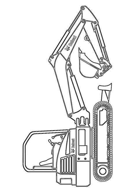 disegni  escavatori da colorare pianetabambiniit