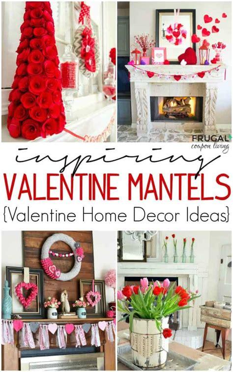 fourteen valentine mantel ideas  valentines day decor