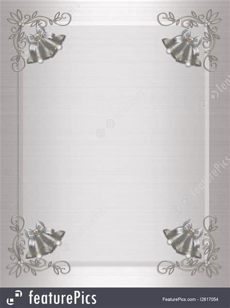 Templates: Wedding Invitation Silver Bells Stock