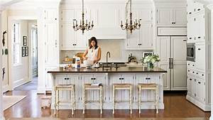 Dream kitchen must have design ideas southern living for Kitchen cabinets lowes with decorative metal disc wall art