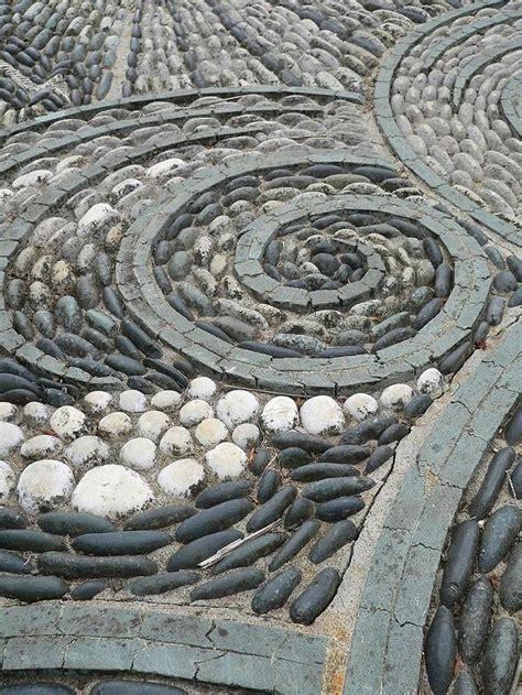 pebble mosaic garden pathway pebble mosaic ideas quiet corner
