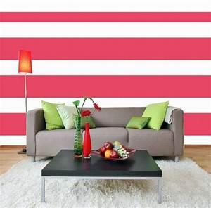 Wandgestaltung Wohnzimmer Streifen : wandfarben ideen kreieren sie eine farbenfrohe ~ Sanjose-hotels-ca.com Haus und Dekorationen