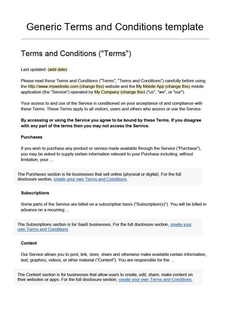 terms  conditions examples salescvinfo