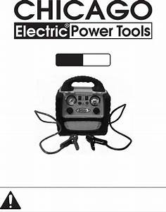 Chicago Electric Automobile Battery Charger 96157 User