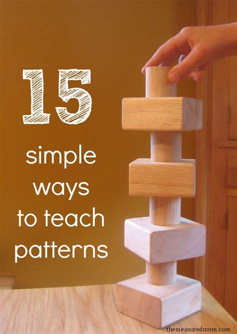 simple ways  teach patterns  preschoolers
