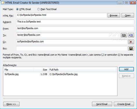 html email creator sender  build