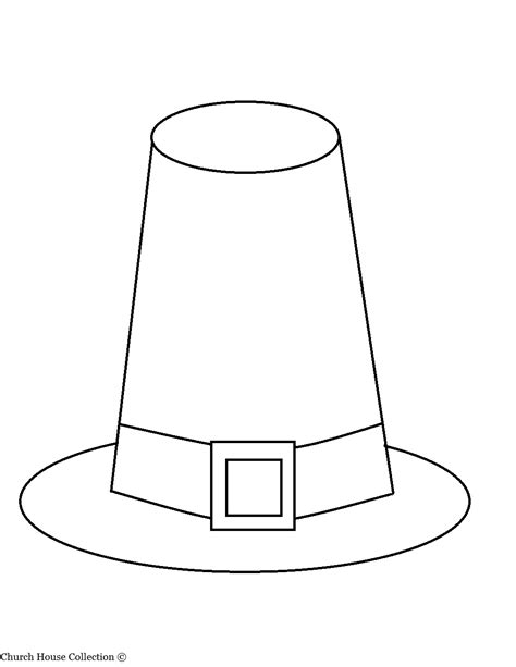 Pilgrim Hat Template
