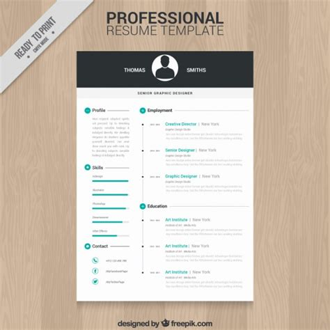 Professional Resume Templates Free by Professional Resume Template Vector Free