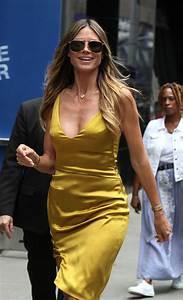 Heidi Klum Frisur 2017 : heidi klum in a gold dress leaving good morning america in nyc 07 06 2017 ~ Frokenaadalensverden.com Haus und Dekorationen