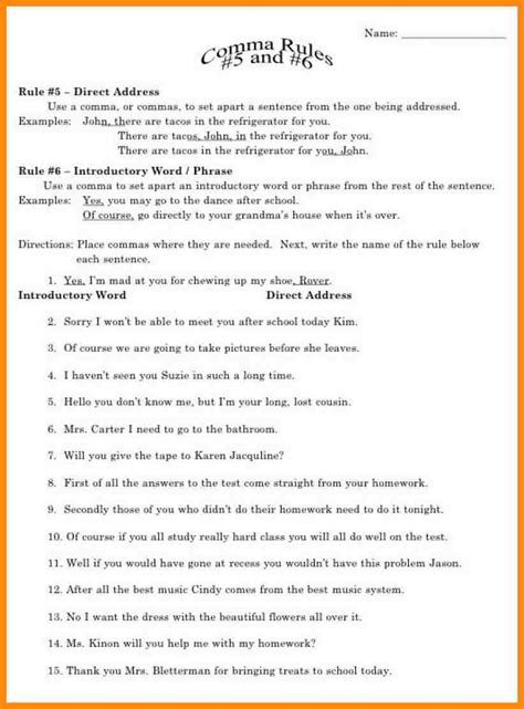 Grammar Worksheets For Fifth Grade Math Grammar Best Free Printable Worksheets