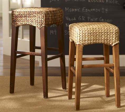 pottery barn seagrass bar stools seagrass backless barstool pottery barn 7568